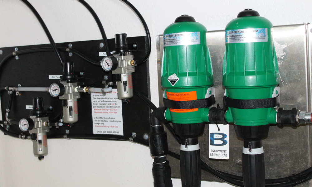 Beer Pump Regs and Dosatron Mixing System
